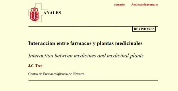 Interaccion farmacos-plantas medicinales