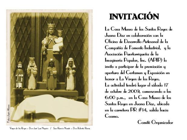 INVITACION EXPOSICION VIRGEN DE LOS REYES