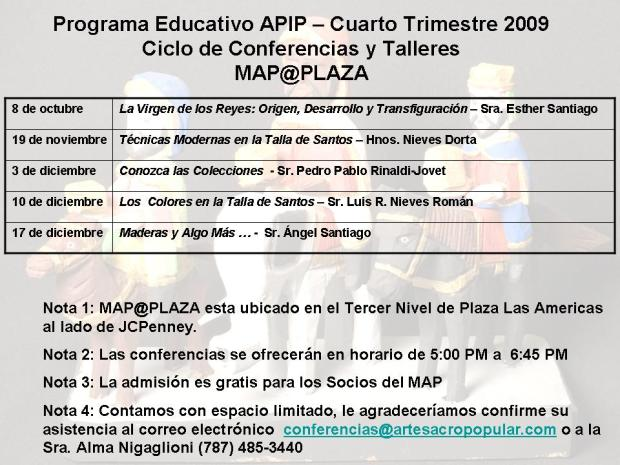 PROGRAMA EDUCATIVO - 4to Trimestre 2009