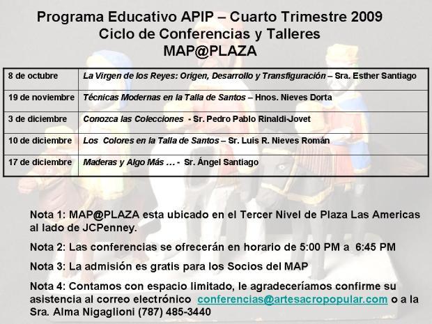 PROGRAMA EDUCATIVO - 4to Trimestre 2009